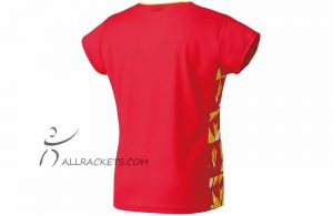 Yonex Tournament Lady T shirt 16442ex Flash Red b