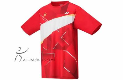 Yonex Mens T-shirt 16440ex Lin Dan Flash Red