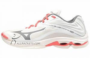 Mizuno Wave Lightning Z6 Lady Snow White QShade CoralF side