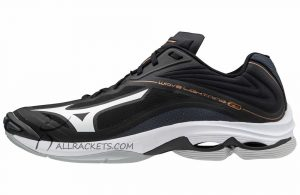 Mizuno Wave Lightning Z6 Men Black White Ebony side