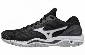 Mizuno Wave Stealth V Black White Ebony