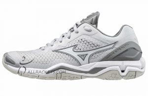 Mizuno Wave Stealth V Harbour Mist White QShade