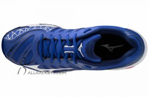 Mizuno Wave Voltage Men Reflex Blue White top